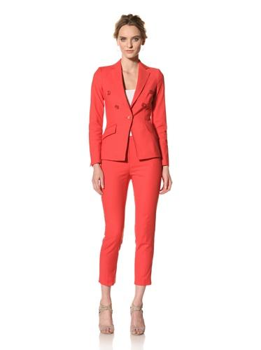 Les Copains Women's White Label Blazer (Red)