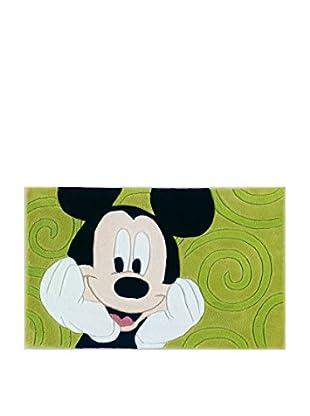 Abc Alfombra Mechón Mano Mickey Mouse Verde 50 x 80 cm