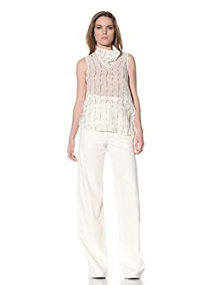 Ann Demeulemeester Women's Sleeveless Tie Top (Off-White)