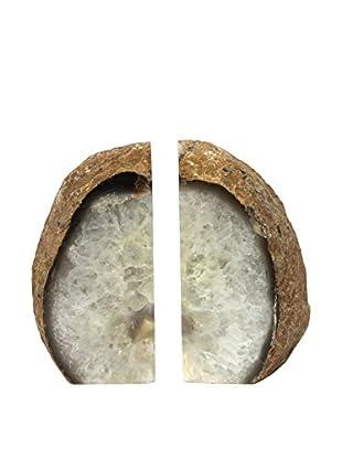 Natural Agate Bookends, Medium