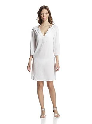 Valery Blu Women's Bead-Trimmed Tunic (White)