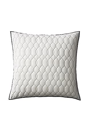 Vera Wang Tracery Quilted Euro Sham, Ivory