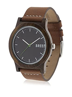 Breef Watches Reloj con movimiento japonés Unisex Ebano Original Marrón 40 x 11 mm