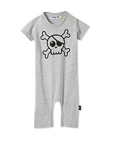 NUNUNU Baby Pirate Play Suit (Heather Grey)