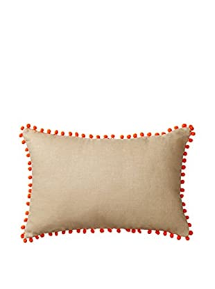 Happy Chic by Jonathan Adler Holly Pom Pom Lumbar Pillow, Natural/Orange
