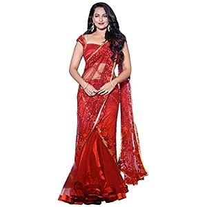 Sonakshi Shinha In Red Saree At Aamby Valley India Bridal Fashion Week 2012