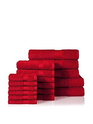 Chortex of England Hampton 17-Piece Towel Set, Ruby