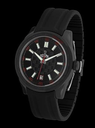 Dogma G7024 - Reloj de Caballero movimiento de quarzo con correa de caucho rojo