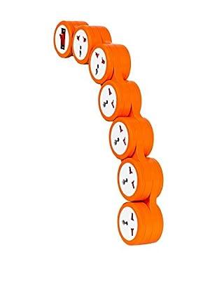 Regleta De Enchufes Flexible Naranja
