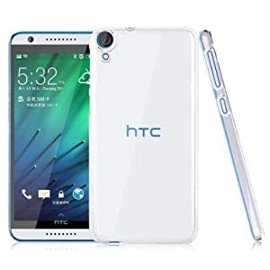 Techno TrendZ Crystal Clear Transparent Hard + Soft Back Case Cover Guard for HTC Desire 820 - Full Transy