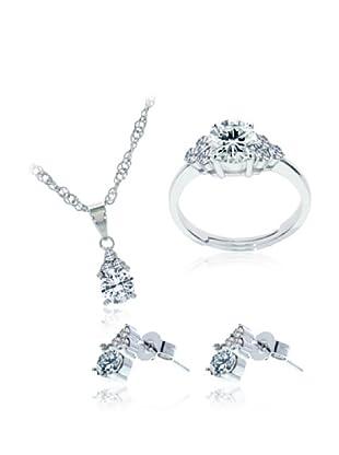 Diamond Style Juego anillo, pendientes y colgante classic