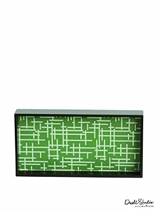 Dwell Studio by Global Views Criss Cross Lacquered Wood Tray, Green