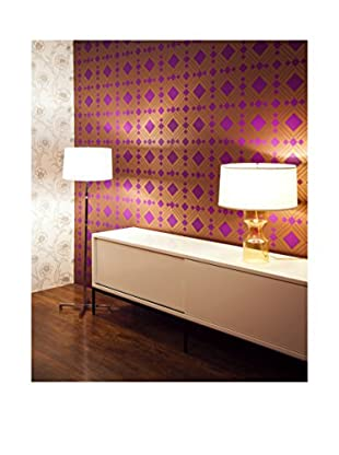 Tempaper Designs Diamond Self-Adhesive Temporary Wallpaper, Violet, 20.5