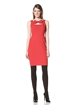 Chetta B Women's Bow Keyhole Dress (Red)