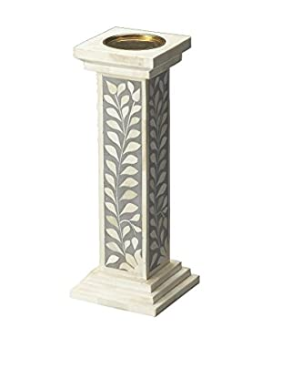 Butler Specialty Bone Inlay Candle Holder