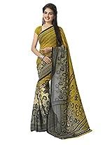 Vaamsi Georgette Printed Saree (Raga3055_Yellow)