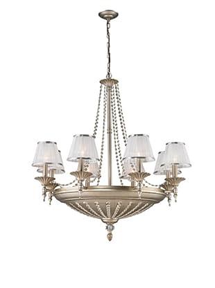 Artistic Lighting 14-Light Chandelier, Aged Silver