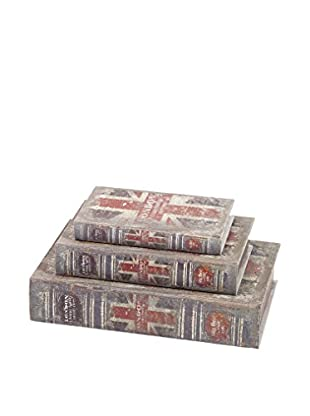 Set of 3 British Flag Book Boxes
