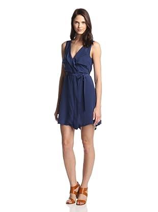 Love & Liberty Women's Central Silk Dress (Navy)