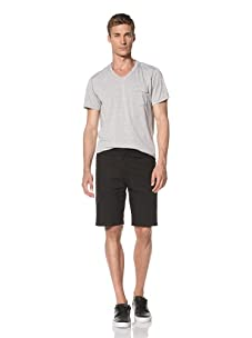 Dorsia Men's Russell Reversible Shorts (Black/Red Plaid)