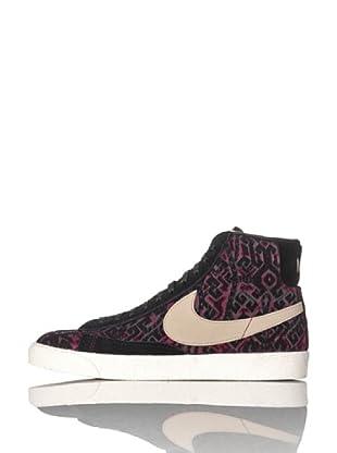 Nike Sneaker Wmns Blazer Mid (Schwarz/Beige/Fuchsia)