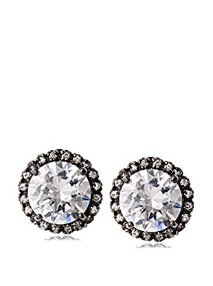 CZ by Kenneth Jay Lane Halo Overstated Stud Earrings