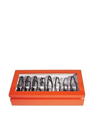 OYOBox Luxury European Inspired Eyewear Organizer, Orange