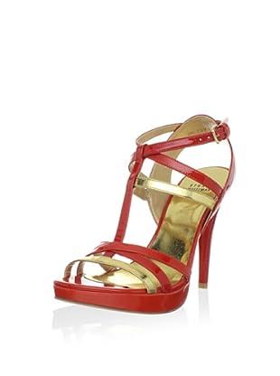 Stuart Weitzman Women's Almost Platform Sandal (Poppy Aniline)