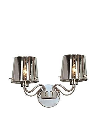 Access Lighting Milano 2-Light Wall Sconce, Chrome/Chrome