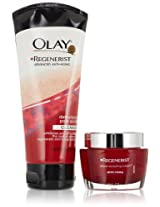 Olay Regenerist Micro-Sculpting Cream And Detoxifying Pore Scrub Duo Pack 1 Kit