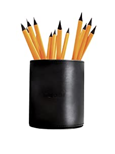 Rhodia Leatherette Pencil Cup and 5 Pencils (Black)
