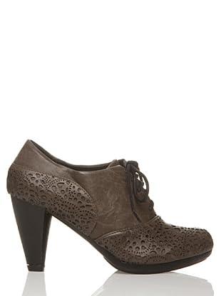 Rizzo Zapatos Calado Cordónes (Taupe)