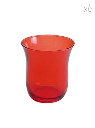 Pasabahce Set 6 Bicchieri Acqua Rosso