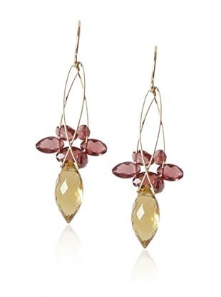 Misha Citrine & Garnet Multi-Stone Earrings