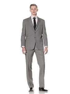 Yves Saint Laurent Men's Pinstripe Suit (Medium Grey/Beige)