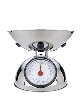 MIU France Polished Stainless Steel 8-Pound Analog Spring Scale (Silver)