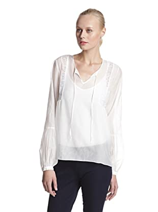 Lola & Sophie Women's Peasant Top (White)