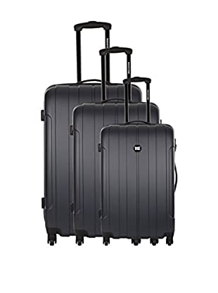 BAGSTONE Set 3 Trolley Rigido Country