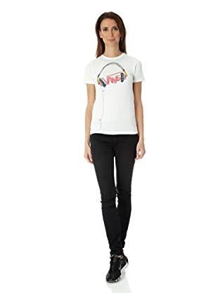 Vans Damen T-shirt Headphones (star white)
