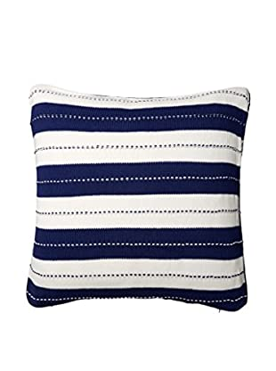 Tommy Hilfiger Knit Cabana Euro Sham, Navy/White