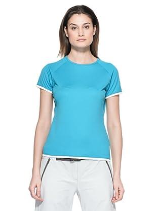 Salewa Camiseta Montia Dry W (Turquesa)