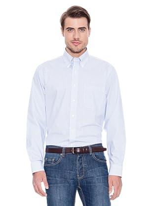 Brooks Brothers Camisa Vestir Johan (Azul / Blanco)
