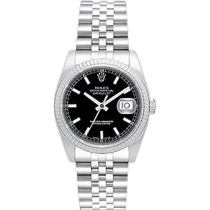 【クリックで詳細表示】[ロレックス] ROLEX 腕時計 デイトジャスト 116234 ブラック バー メンズ [並行輸入品]