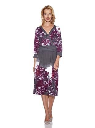 Frank Walder Kleid 3/4 Arm (Violett)