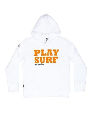 El Niño Sudadera Play Surf (Blanco)