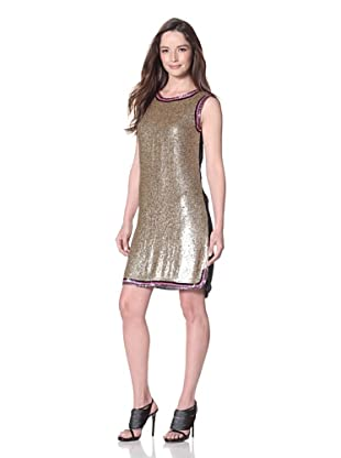 Cynthia Rowley Women's Sequin Dress (Gold/Navy)