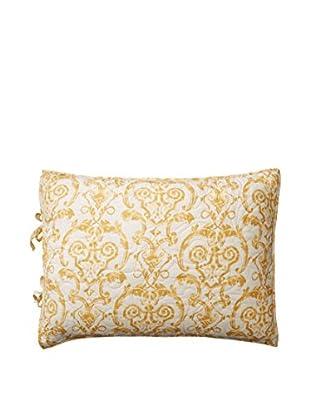 Florence Standard Reversible Sham, Gold/White
