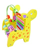 Giraffe Wooden Abacus Activity & Counting Toy, 1 Piece