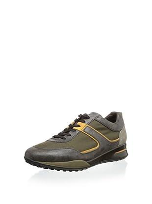 Tod's Men's Nylon Sneaker (Olive / Brown)