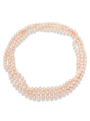 Valero Pearls 340211 - Collar de mujer de plata con perla cultivada de agua dulce, 120 cm
